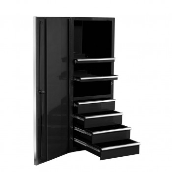 24 Inch 4 Drawer 3 Shelf Side Cabinet