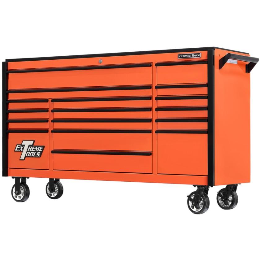 72 Inch Wide 25 Inch Deep Triple Bank Roller Cabinet