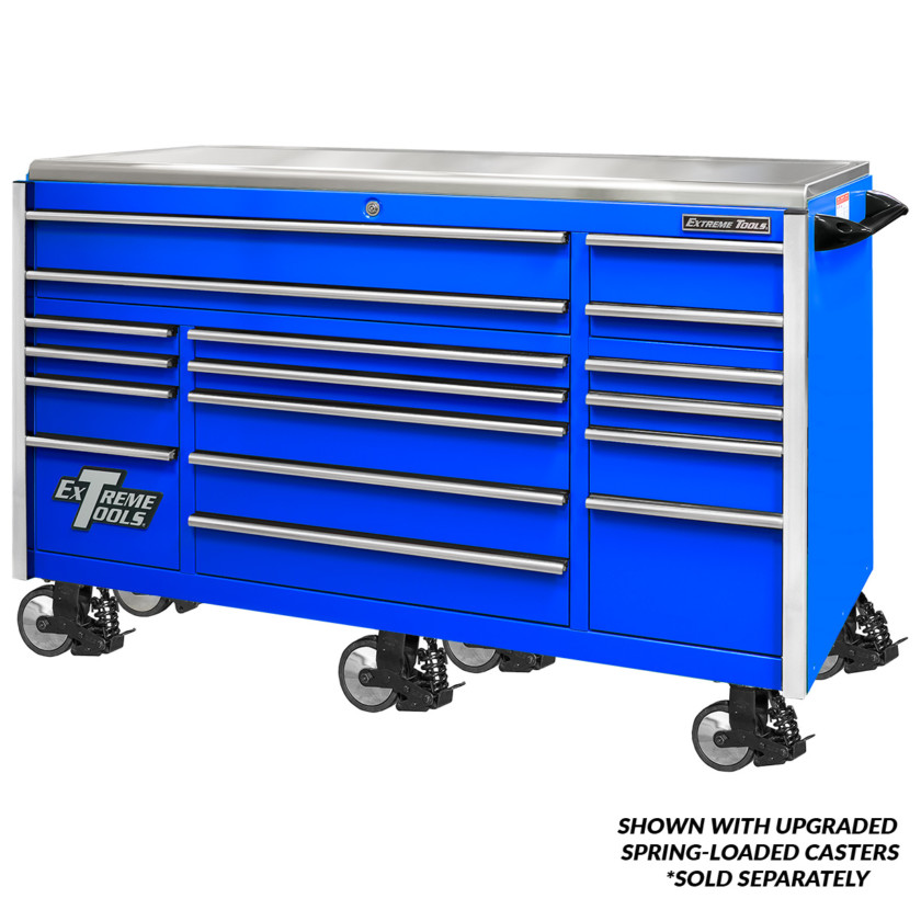 Professional 72 Inch Triple Bank Roller Cabinet